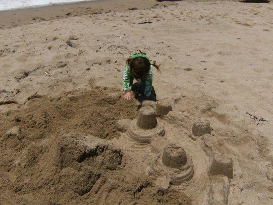Sand castle destruction